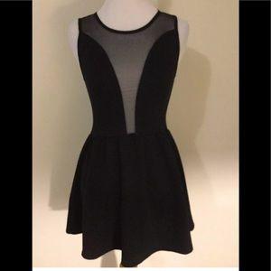 For Love and Lemons black lulu mini dress skater